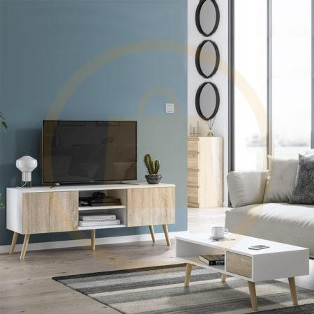 Ensemble Meuble TV+Table basse Scandinaves