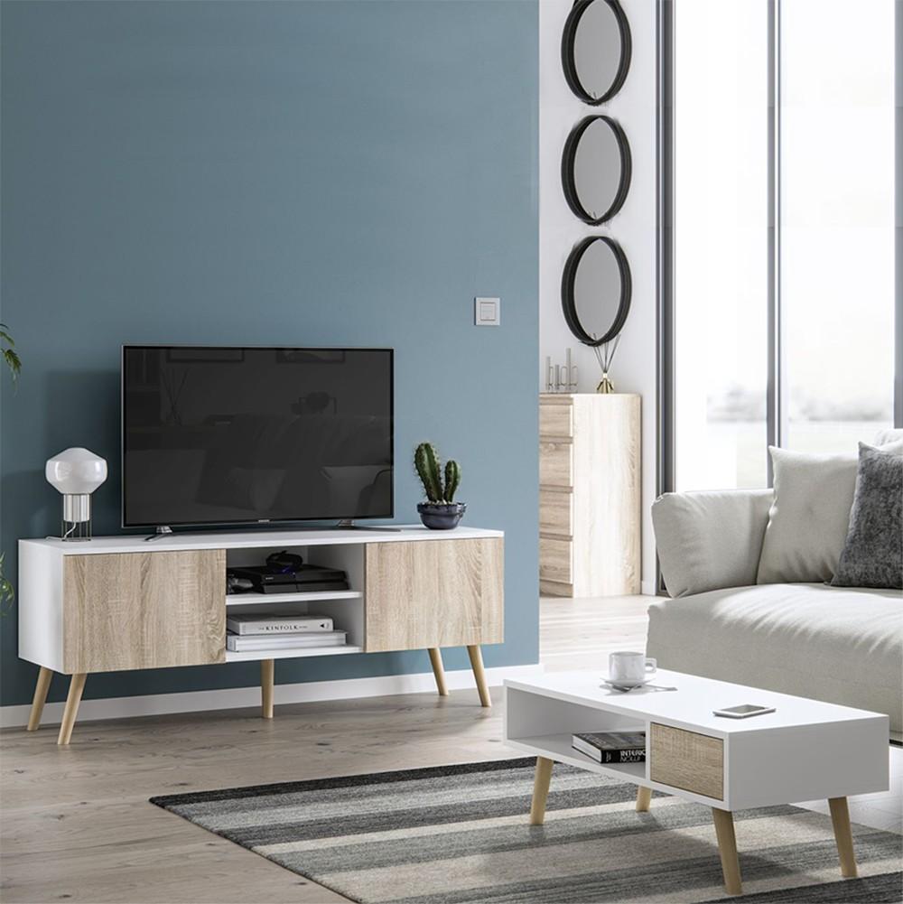 Ensemble Meuble Tv Table Basse Scandinaves Intershop