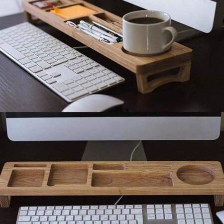 Support Bureau en bois